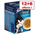 Felix Soup pour chat 12 x 48 g + 6 sachets offerts !