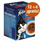 Felix Soup 18 x 48 g snacks para gatos en oferta: 12 + 6 ¡gratis!