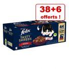 Felix Succulent Grill pour chat 38 x 80 g + 6 sachets offerts !