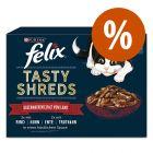 Felix Tasty Shreds comida húmida 12/44 x 80 g a preço especial!