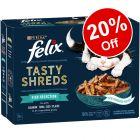 Felix Tasty Shreds Wet Cat Food - 20% Off!*