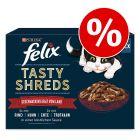 Felix Tasty Shreds 2 x 12 x 80 g comida húmida 2 unidade com 40 % de desconto!