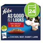 Felix Tendres Effilés en gelée 24 x 100 g pour chat
