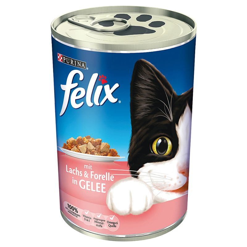 Felix кусочки в желе 6 x 400 г