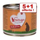 Feringa Classic Meat Menu pour chat 5 x 200 g + 1 x 200 g offerts !