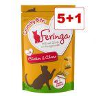 Feringa Crunchy Bites kissanherkut 6 x 30 g: 5 + 1 kaupan päälle!