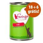 Feringa Menus Duo comida húmida 24 x 400 g em promoção: 18 + 6 grátis!