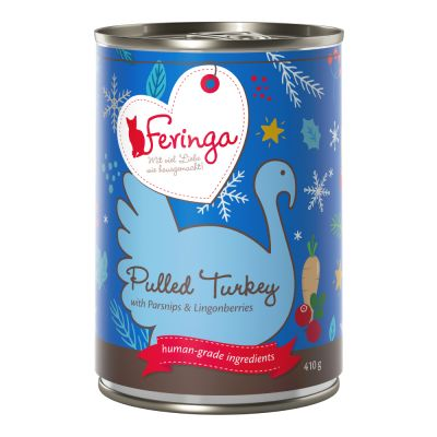 Feringa Pure Meat Wintermenu Pulled Turkey Kattenvoer