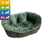 Ferplast Hundekorb Siesta Deluxe schwarz mit Überzug Sofà samt grün