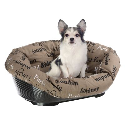 Ferplast Siesta Deluxe Dog Basket - Black