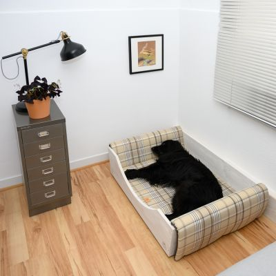 Ferplast Wooden Dog Bed with Reversible Cushion