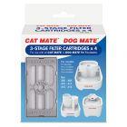 Filtros de recambio de fuentes y bebederos Cat Mate / Dog Mate