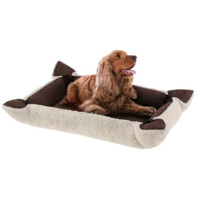 Fleecy 2-in-1 Pet Bed - Brown / Ivory
