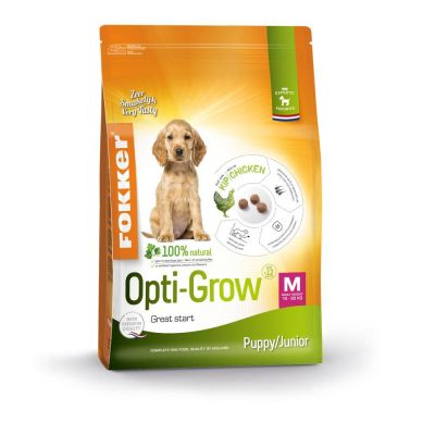 Fokker Puppy/Junior Medium Opti-Grow Hondenvoer