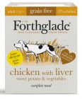 Forthglade Complete Meal Grain-Free Adult Dog – Chicken with Liver