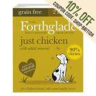 Forthglade Just Grain-Free Natural Wet Dog Food - Just Chicken