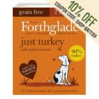 Forthglade Just Grain-Free Natural Wet Dog Food - Just Turkey