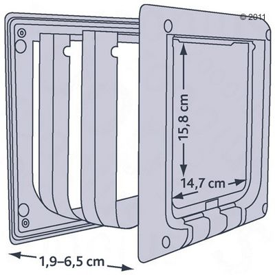 Freecat de Luxe Trixie Cat Flap - 4 Way Lock