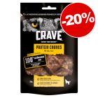 Friandises Crave Protein 55/75 g pour chien : 20 % de remise !