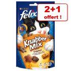 Friandises Felix Party Mix pour chat 2 x 60g + 60g offerts !
