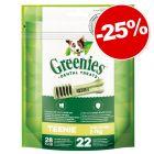 Friandises Greenies Soin dentaire & sans céréales : 25 % de remise !