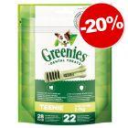 Friandises Greenies Soin dentaire & sans céréales : 20 % de remise !