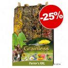 Friandises JR Farm Farmy's Grainless XXL pour rongeur et lapin : 3 + 1 offerte !