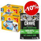 Friandises Pedigree Dentastix + croquettes Crave 1 kg : 10 % de remise !