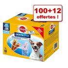 Friandises Pedigree Dentastix 100 friandises + 12 friandises offertes !