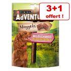 Friandises PURINA AdVENTuROS Nuggets pour chien 3 x 300 g + 300 g offerts !