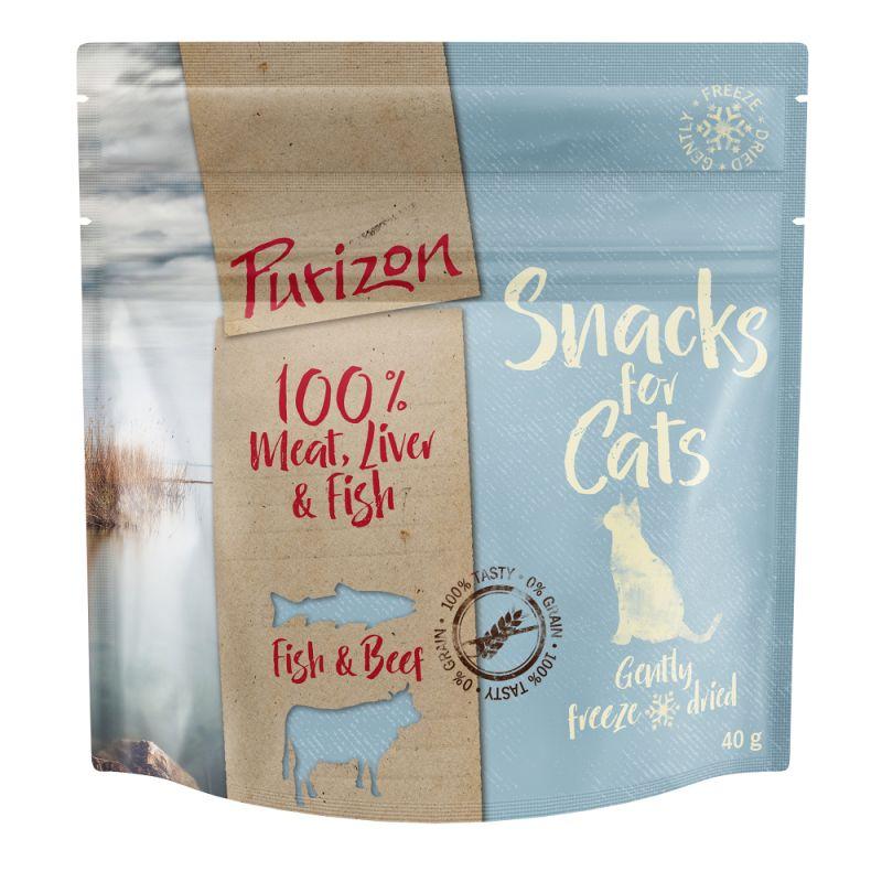 Friandises Purizon poisson, bœuf sans céréales pour chat