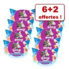 Friandises Whiskas pour chat : 6 + 2 boîtes offertes !