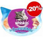Friandises Whiskas pour chat : 20 % de remise !