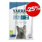 Friandises Yarrah Bio pour chat 3 x 3 bâtonnets de 5 g : 25 % de remise !