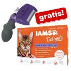 FURminator DeShedding Tool + 12 x 85 g IAMS Delights Adult gratis!