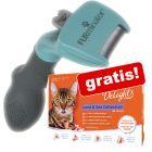 FURminator + 12 x 85 g IAMS Naturally Cat gratis!