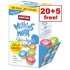 15g Animonda Milkies Mixed Pack Cat Treats - 20 + 5 Free!*