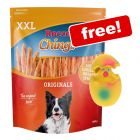 900g Rocco Chings Originals XXL + Latex Squeaker Egg Dog Toy Free!*