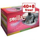 85g Smilla Adult Sterilised Wet Cat Food Mixed Pack - 40 + 8 Free!*