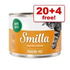200g Smilla Tender Poultry Wet Cat Food - 20 + 4 Free!*
