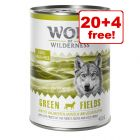 400g Wolf of Wilderness Adult Wet Dog Food - 20 + 4 Free!*