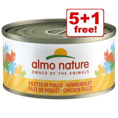 70g Almo Nature Wet Cat Food - 5 + 1 Free!*