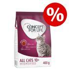 400 g Concept for Life All Cats 10+ zum Probierpreis!