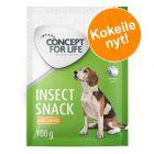 100 g Concept for Life Insect Snack -koiranherkut kokeiluhintaan!