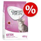 400 g Concept for Life kattetørfoder til særpris!