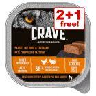 300g Crave Adult Paté Wet Dog Food - 2 + 1 Free!*