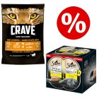 750g Crave Dry Cat Food + 6 x 37.5g Sheba Perfect Portions - Bundle Price!*