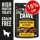 55g Crave Protein Chunks Dog Snacks – 15% Off!*