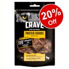 55g Crave Protein Chunks Dog Snacks - 20% Off!*