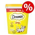 350 g Dreamies Katzensnacks Megatub zum Sonderpreis!